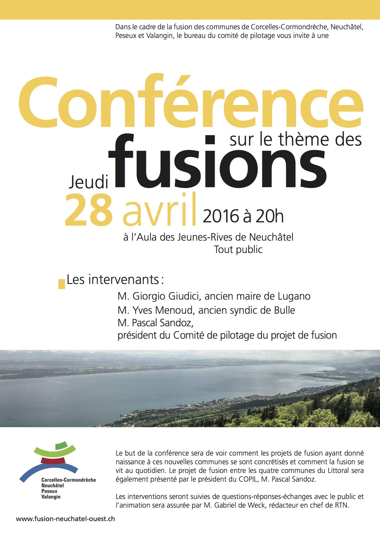 Peseux en mieux vous recommande chaleureusement cette conférence du 28 avril à Neuchâtel.