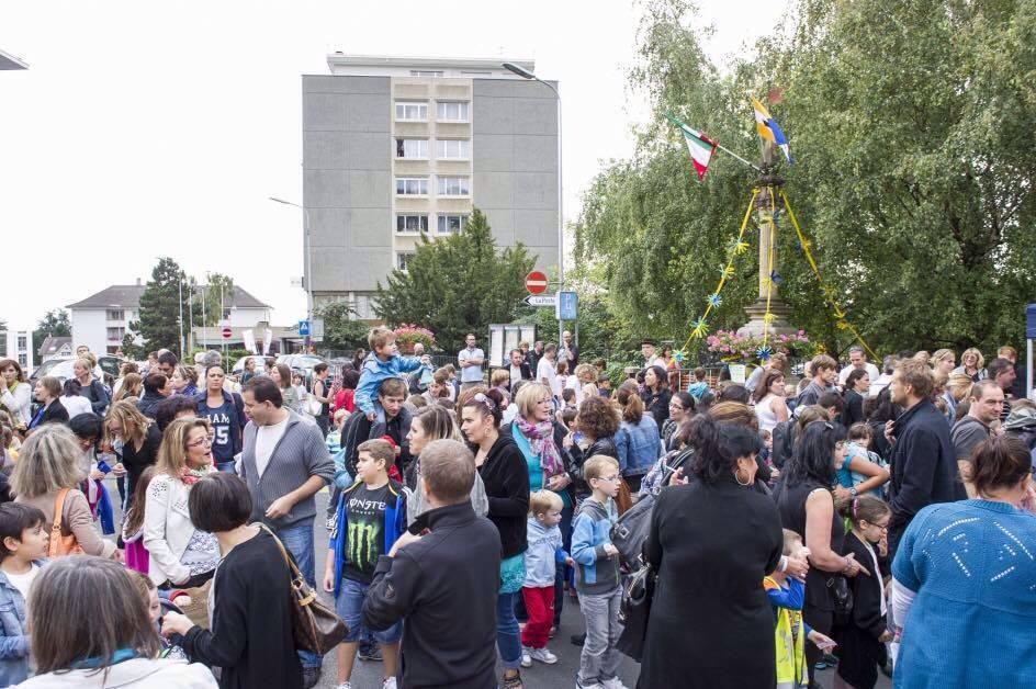 Peseux compte de nombreuses familles (ici lors de la fête des fontaines 2014).
