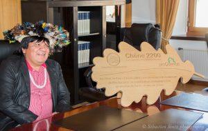 Le chef Almir de l'accueil réservé par la Conseil communal de Peseux en mars 2017. (Photo: S. Sintz)