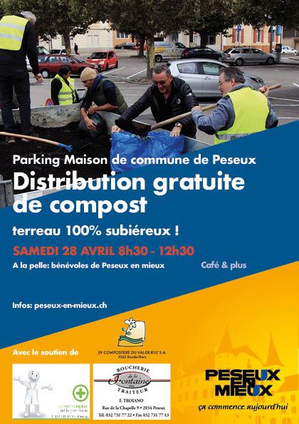 Distribution gratuite de compost par Peseux en mieux
